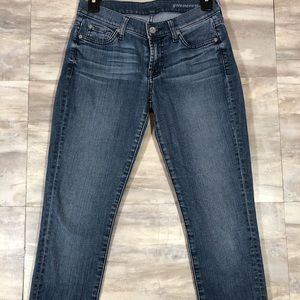 7 For All Mankind Guenevere Skinny Jeans size 25